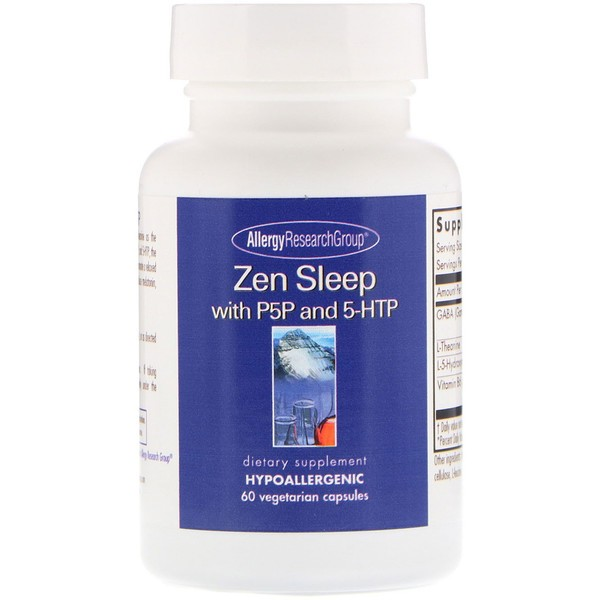 Image of Zen with P5P and 5-HTP 60 Vegetarian Capsules - Allergy Research Group 0713947873643
