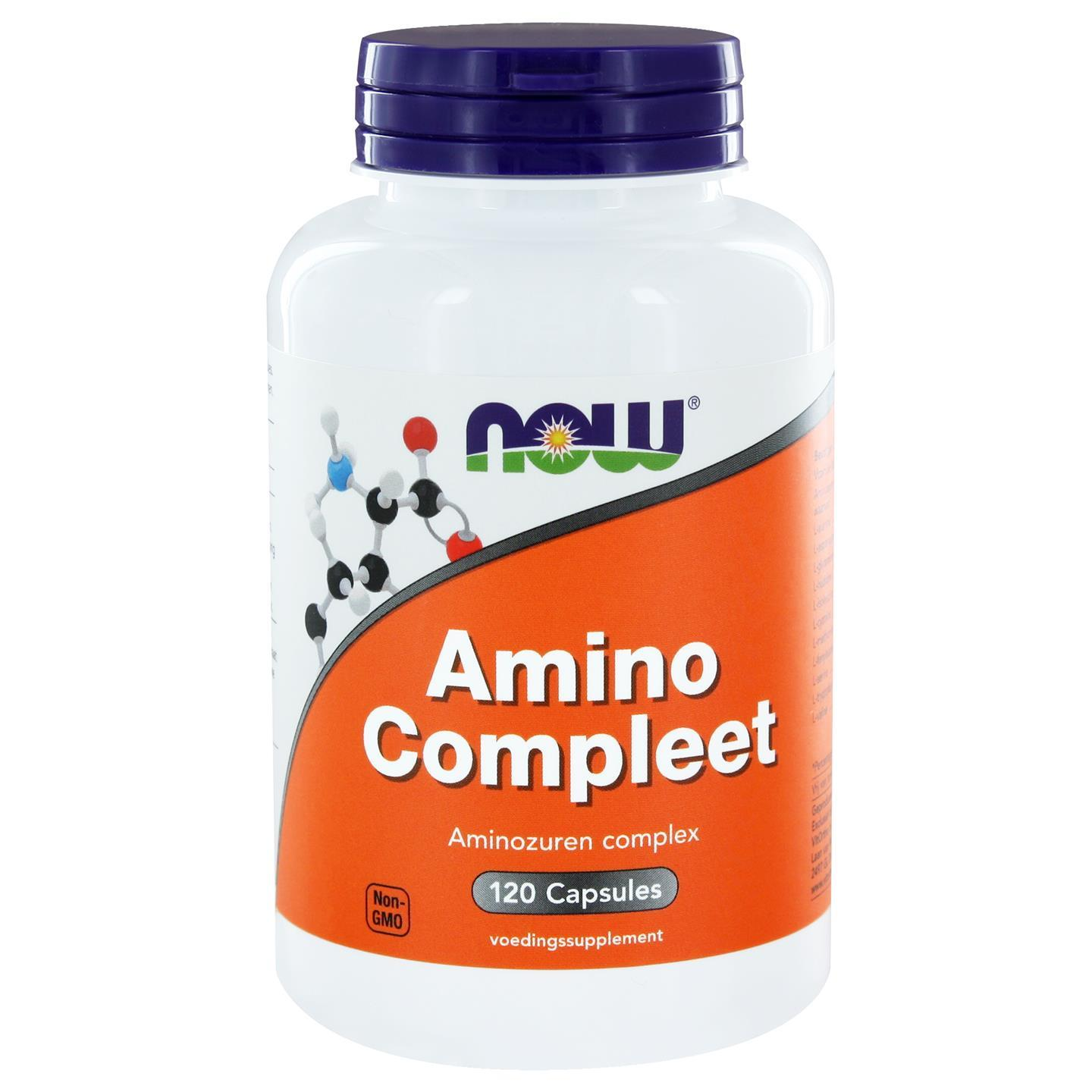 Image of Completo amminico (120 capsule) - Now Foods 0733739105530