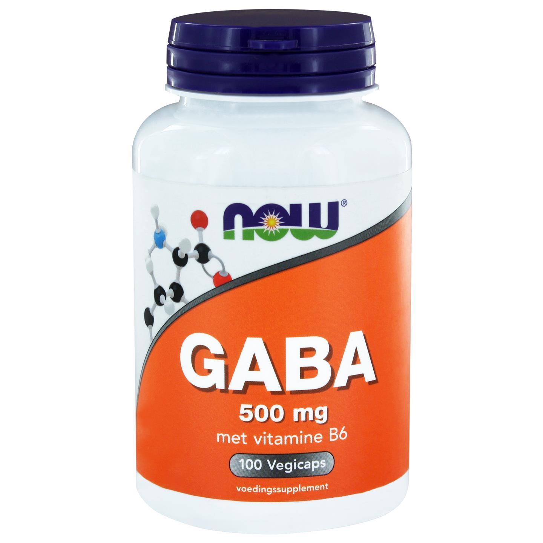 Image of GABA 500 mg più vitamina B6 (100 capsule) - Now Foods 0733739113344