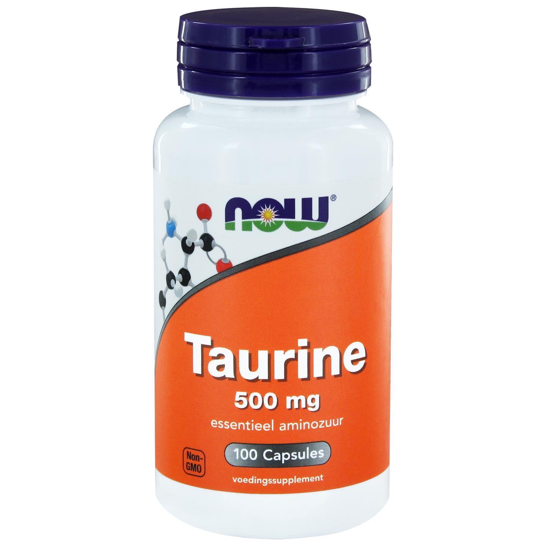 Image of Now Foods, taurina 500 mg, 100 capsule 0733739102140