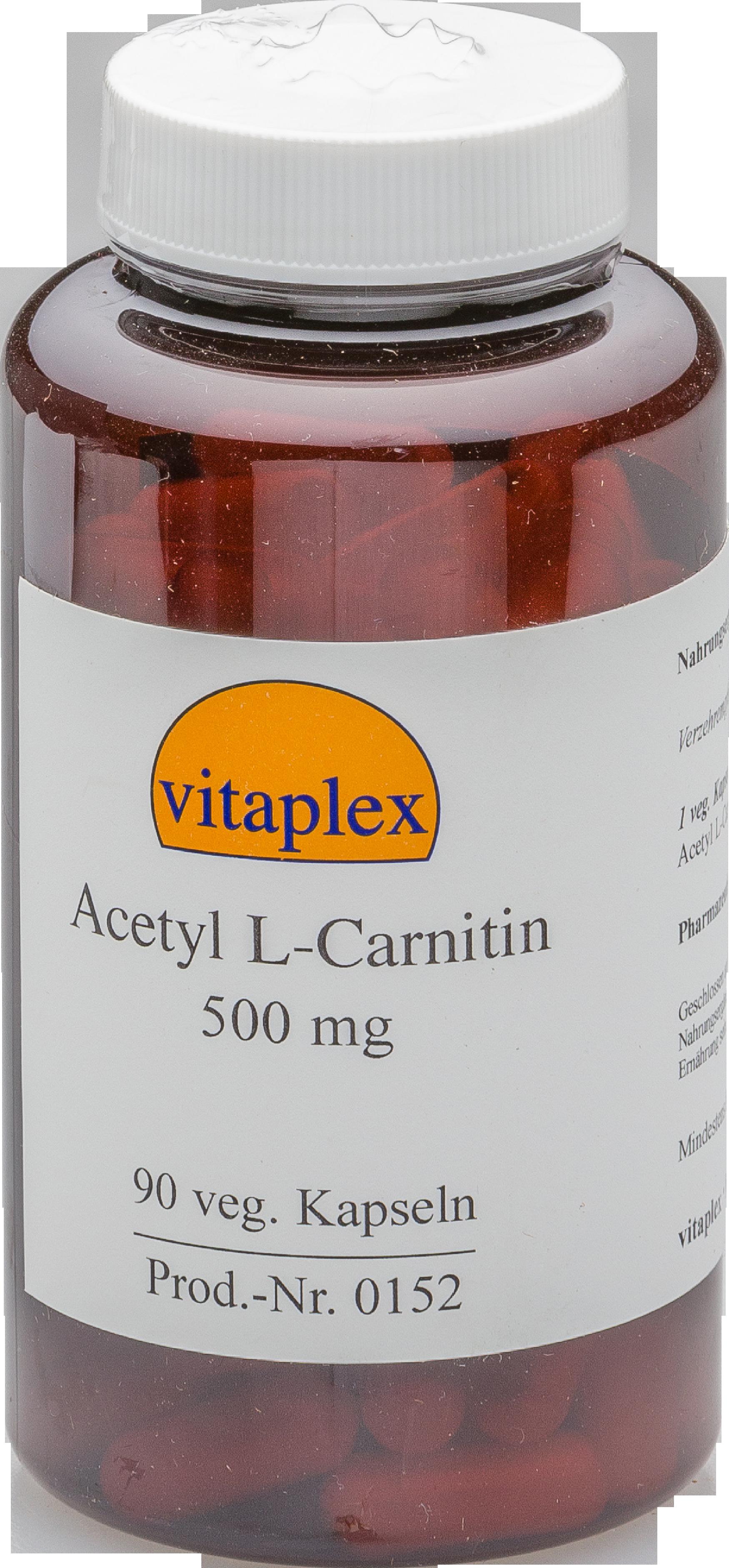 Acetil L carnitina 500 mg (90 capsule vegetariane) Vitaplex
