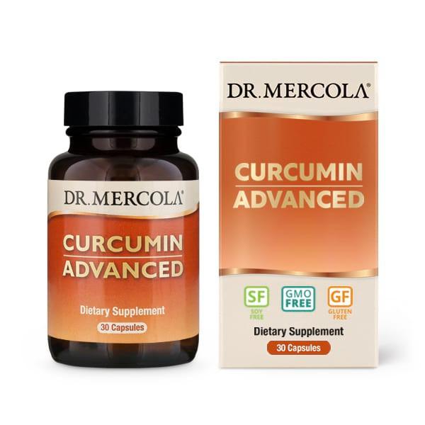 Image of Curcumin Advanced 500 mg (30 Capsules) - Dr. Mercola 0813006015394