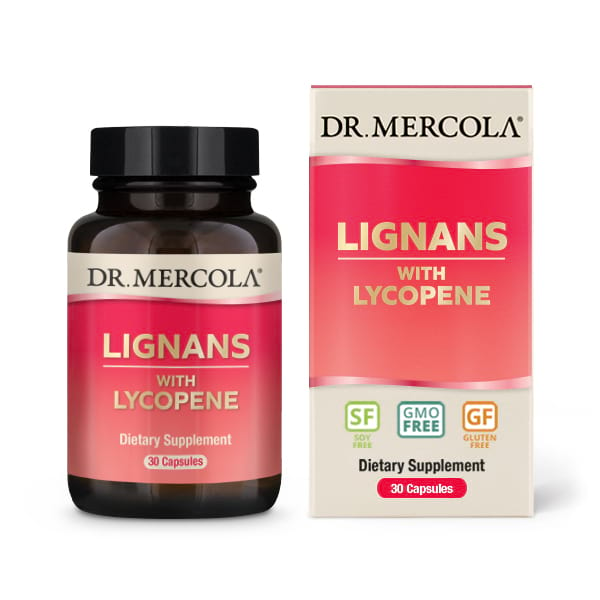 Image of Lignans with Lycopene (30 capsules) - Dr. Mercola 0813006017800