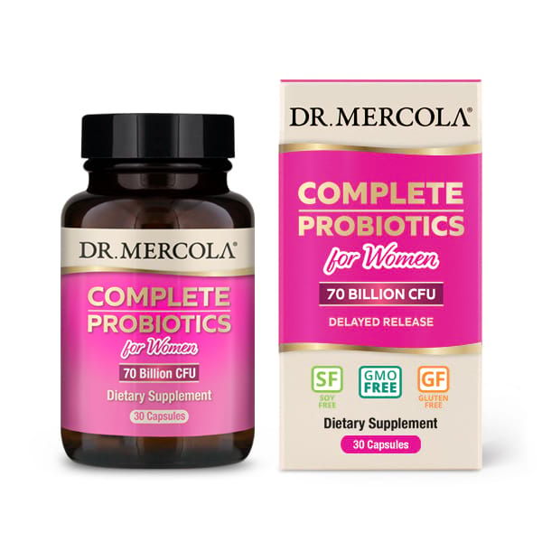 Complete Probiotics for Women (70 Billion CFU) (30 Capsules) Dr. Mercola