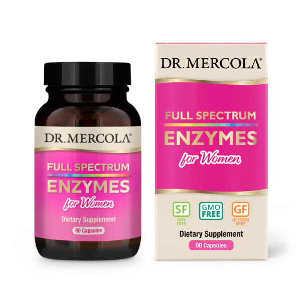 Image of Full Spectrum for Women Enzymes (90 Capsules) - Dr. Mercola 0810487030915