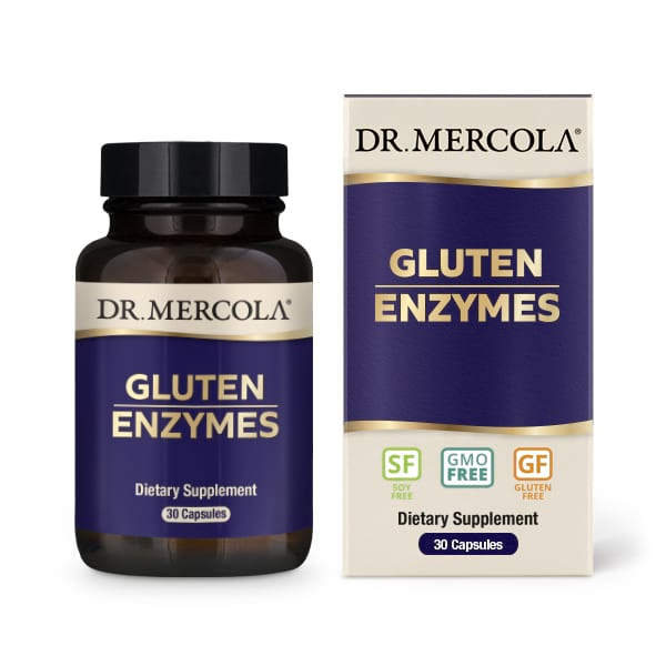 Image of Gluten Support Enzymes (30 Capsules) - Dr. Mercola 0810487030939