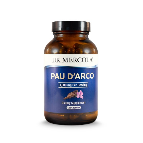 Image of Pau d'Arco 1000mg 120 Capsules - Dr Mercola 0810487031899