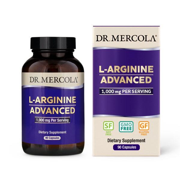Image of L-Arginine Advanced 90 capsules - Dr. Mercola 0810487032261