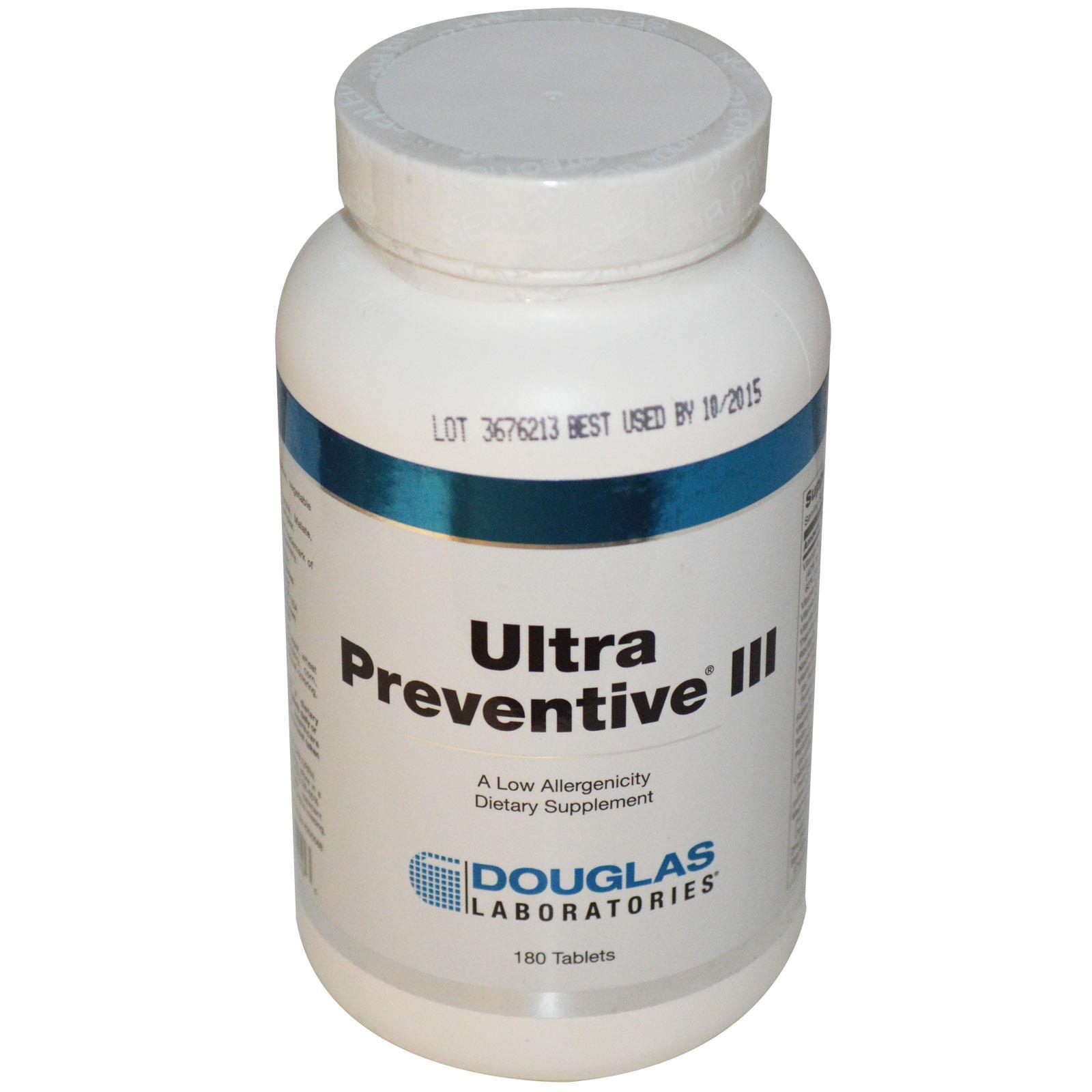 Douglas Laboratories, Ultra III preventiva, 180 compresse