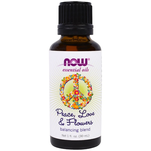 Image of Essential Oils- Peace- Love & Flowers- Balancing Blend (30 ml) - Now Foods 0733739076342