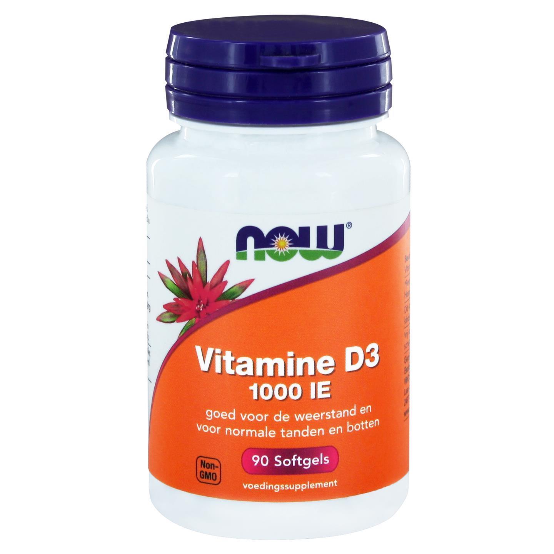 Image of Vitamina D-3 1000 IE (90 capsule) - Now Foods 0733739112996