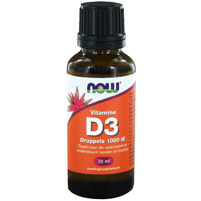 Image of Now Foods, resistenza supplementare liquida vitamina D3, 1.000 IU (30 ml) 0733739145550