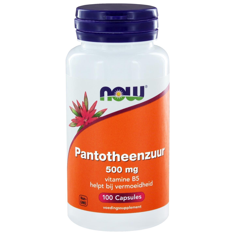 Image of Now Foods, l'acido pantotenico 500 mg, 100 capsule 0733739102737
