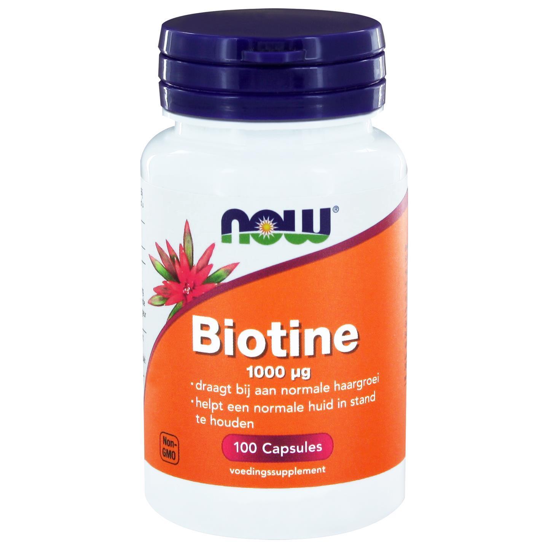 Image of Now Foods, biotina 1000 mcg, 100 capsule 0733739102706