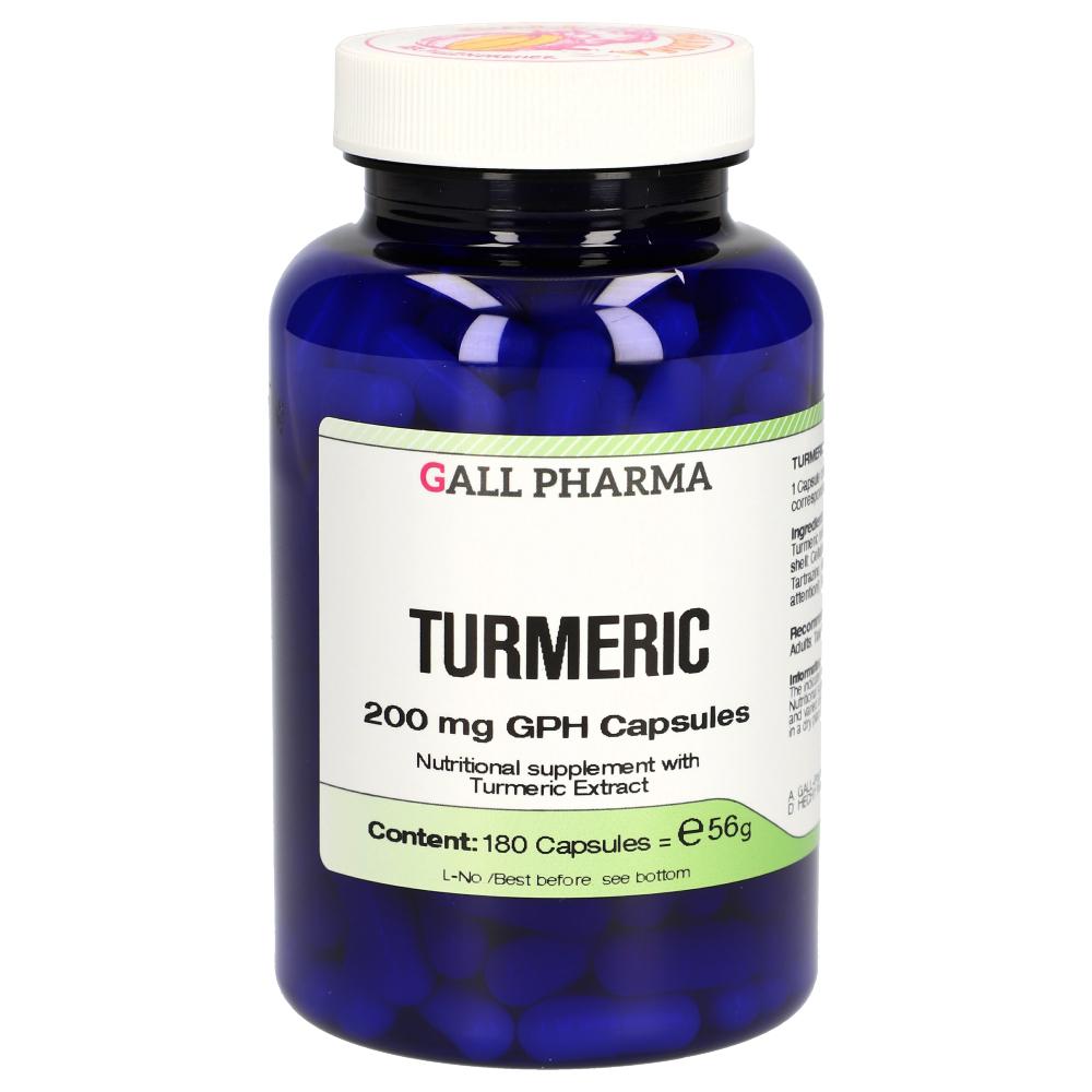 Turmeric 200 mg GPH Capsules (180 Capsules) Gall Pharma GmbH