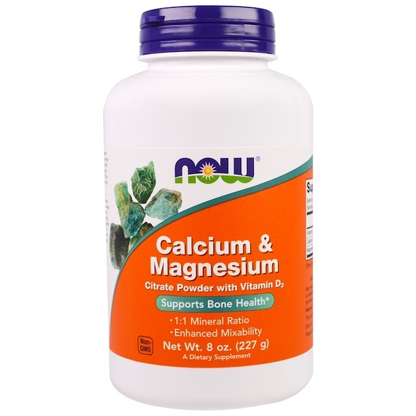 Image of Calcium & Magnesium Powder (227 g) - Now Foods 0733739012432