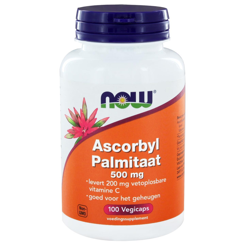 Image of Now Foods, palmitato di ascorbile 500 mg, 100 Veggie Caps 0733739102966
