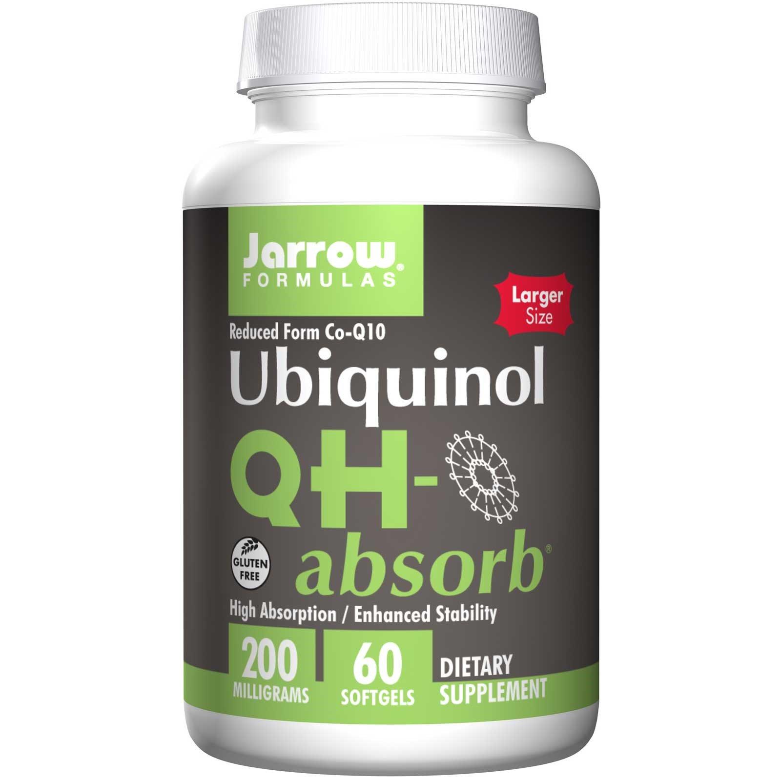 Image of Ubiquinol QH-Absorb 200 mg (60 softgels) - Jarrow Formulas 0790011060260