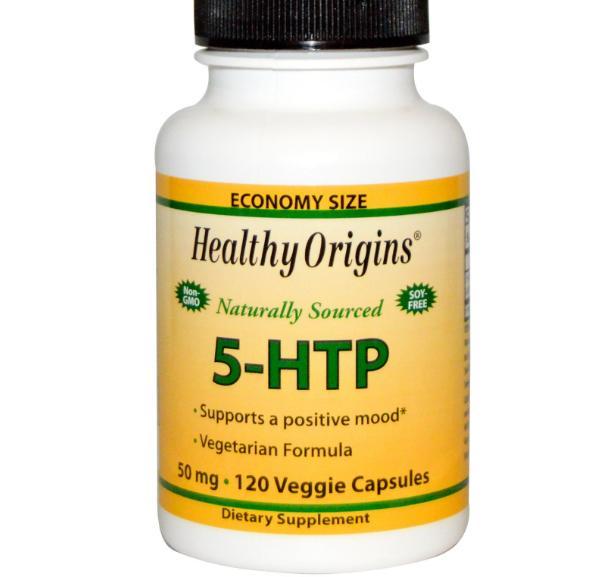 Image of Healthy Origins, 5-HTP, 50 mg, 120 Veggie Caps 0603573350727