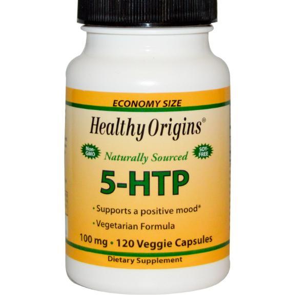 Image of 5-HTP 100 mg (120 Veggie Caps) - Healthy Origins 0603573350826