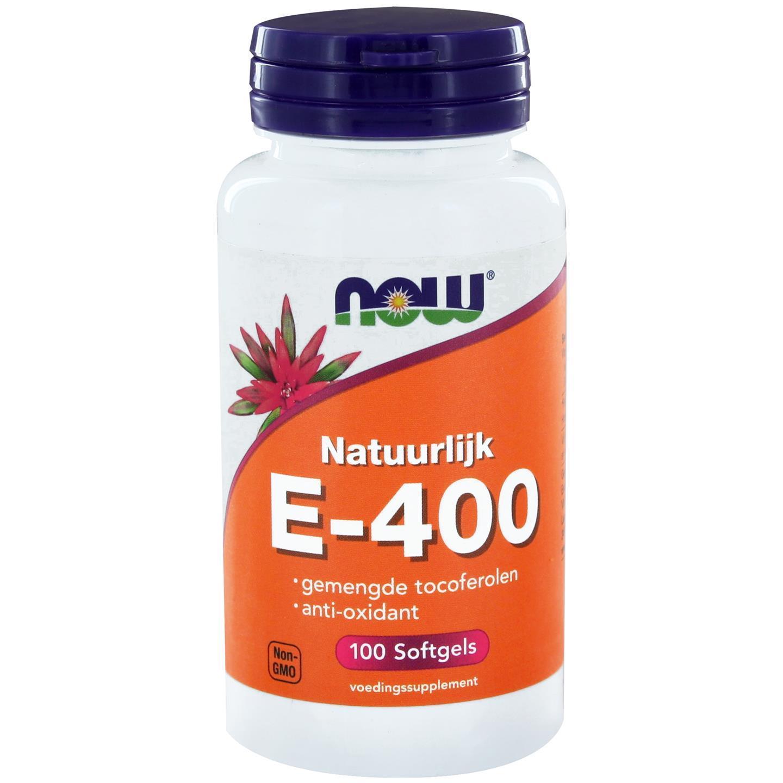 Image of Now Foods, E-400 100% naturale misto tocoferoli, 100 Softgels 0733739100436