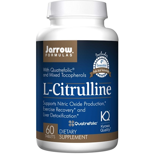 Image of L-Citrulline (60 tablets) - Jarrow Formulas 0790011150688