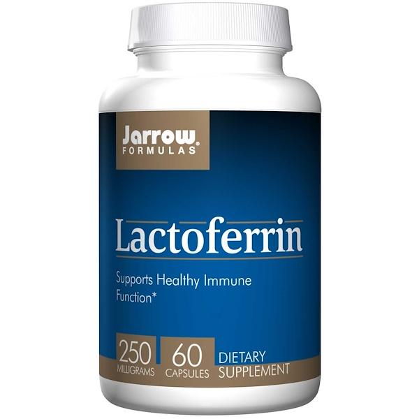 Image of Lactoferrin 250 mg (60 Capsules) - Jarrow Formulas 0790011210115