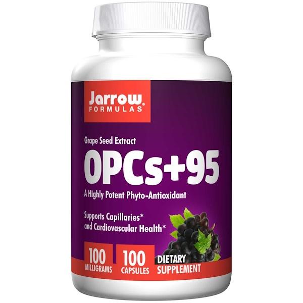 Image of OPCs + 95 Grape Seed Extract 100 mg (100 Capsules) - Jarrow Formulas 0790011140207