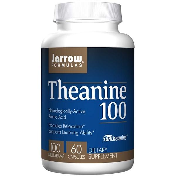 Image of Theanine 100 mg (60 Vegetarian Capsules) - Jarrow Formulas 0790011150503