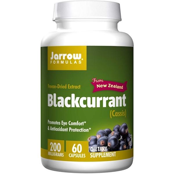 Image of Blackcurrant 200 mg (60 Vegetarian Capsules) - Jarrow Formulas 0790011200345