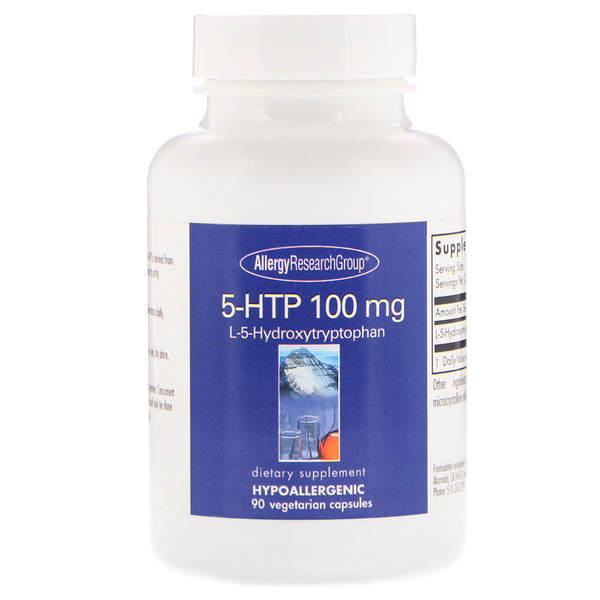 Image of 5-HTP 50 mg 150 Vegetarian Capsules - Allergy Research Group 0713947828148