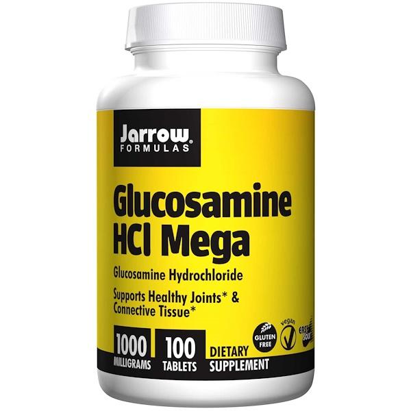 Image of Glucosamine HCL Mega 1000 mg (100 tablets) - Jarrow Formulas 0790011190035