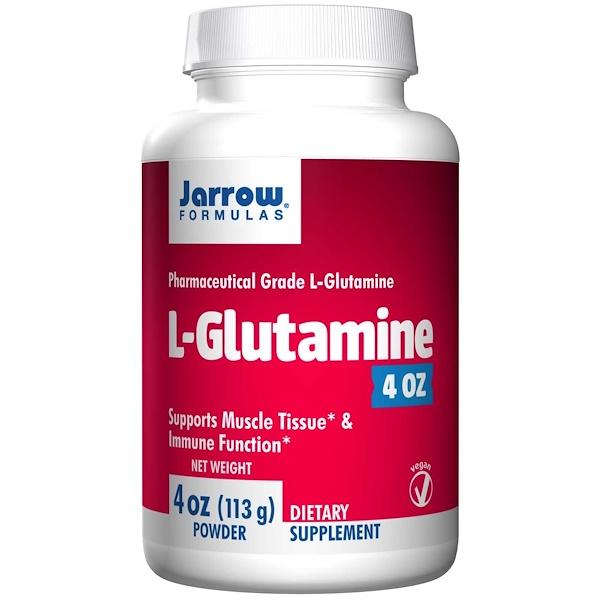 Image of L-Glutamine Powder (113 gram) - Jarrow Formulas 0790011150091