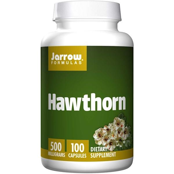 Image of Hawthorn 500 mg (100 Capsules) - Jarrow Formulas 0790011140337