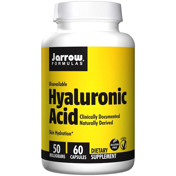 Image of Hyaluronic Acid 50 mg (60 Vegetarian Capsules) - Jarrow Formulas 0790011290186