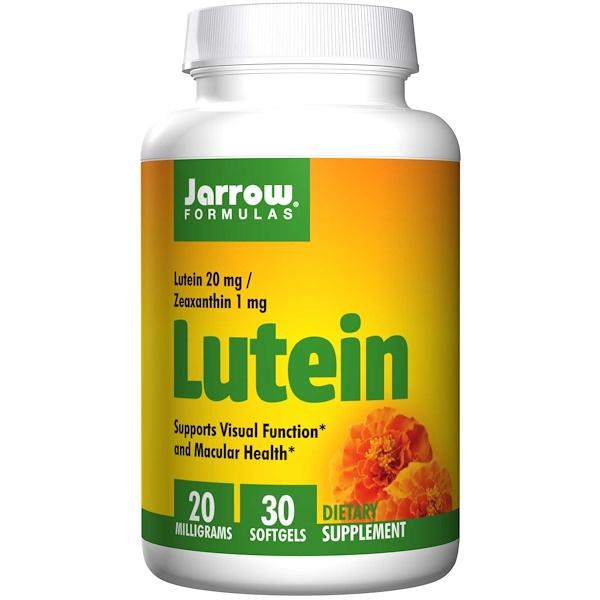 Image of Lutein 20 mg (30 softgels) - Jarrow Formulas 0790011120247
