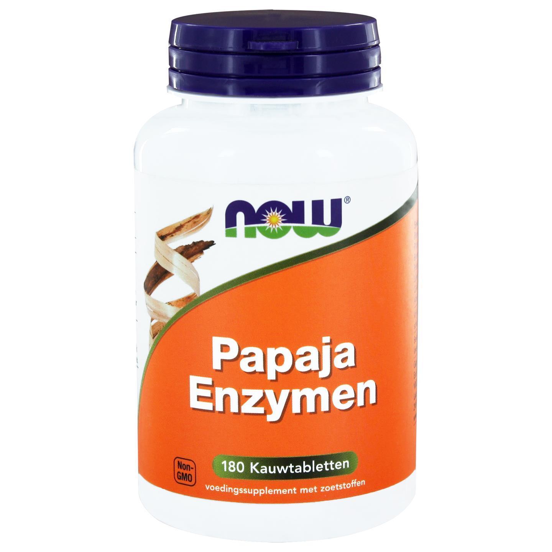 Image of Now Foods, Enzimi di Papaya masticabili, 180 pastiglie 0733739101358