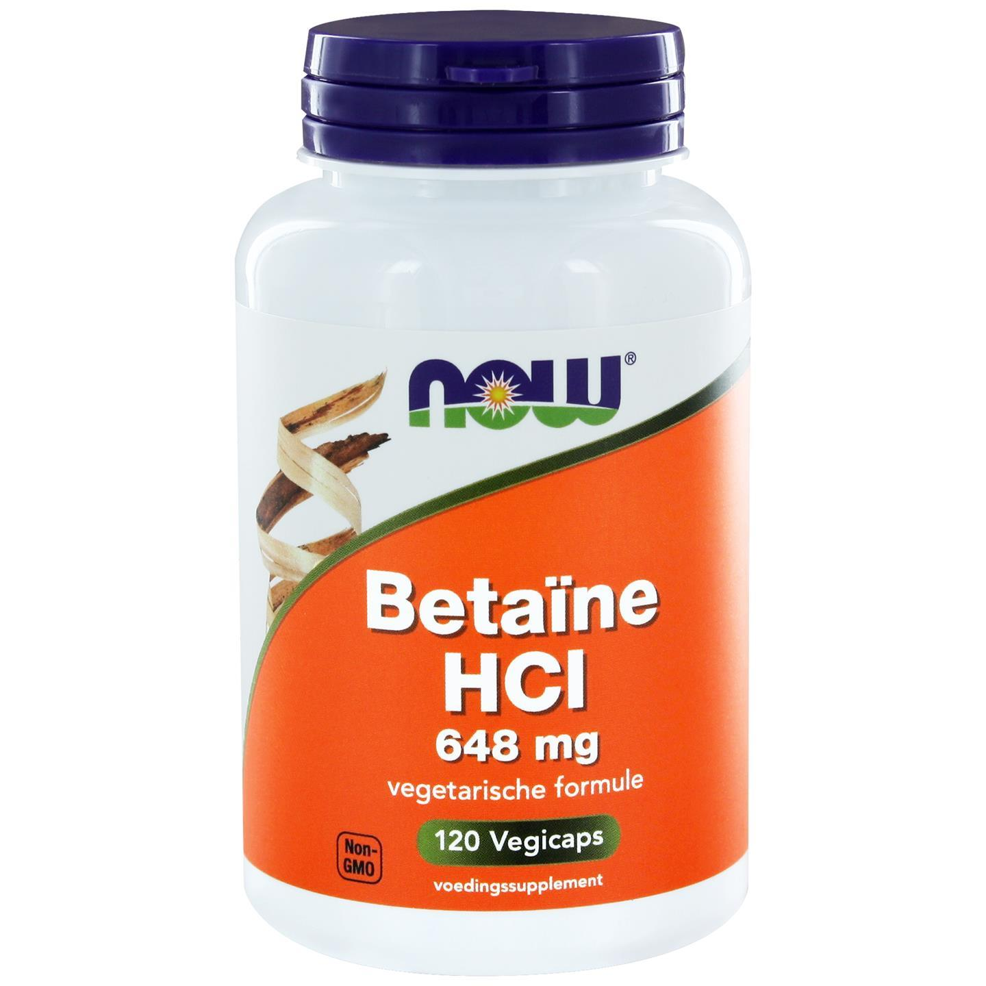 Image of Now Foods, betaina HCL 648 mg, 120 capsule 0733739102362