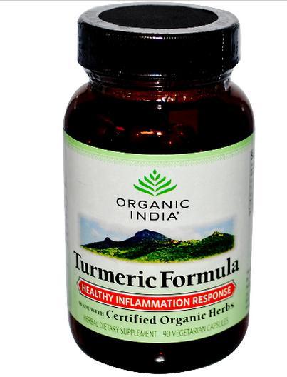 Image of Organic India, Turmeric Formula, Healthy Inflammation Response, 90 Veggie Caps 0851469000113