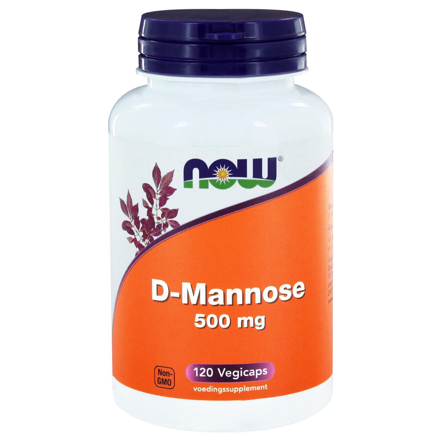 Image of Now Foods, 500 mg di D-mannosio, 120 capsule 0733739106742
