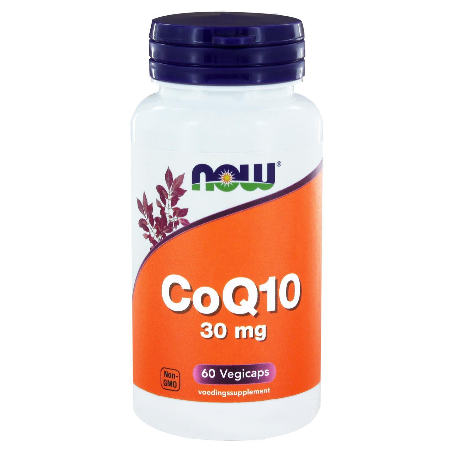 Image of Now Foods, CoQ10 30 mg, 60 Vcaps 0733739100757