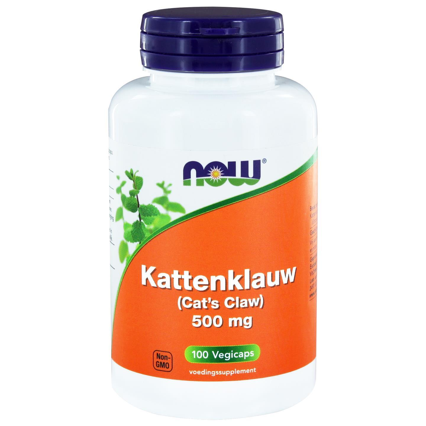 Image of Now Foods, Cat's Claw, 500 mg, 100 capsule 0733739101662