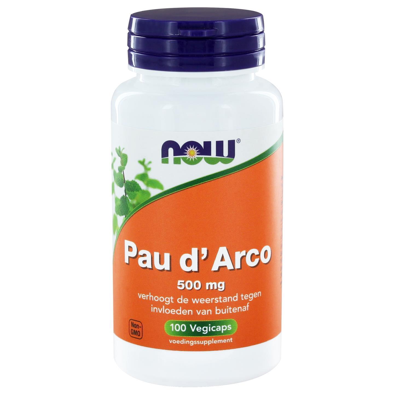 Image of Now Foods,Pau d'arco, 500 mg, 100 capsule 0733739101808