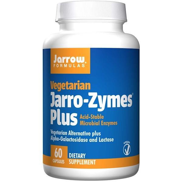 Image of Jarro-Zymes Plus Vegetarian (60 Vegetarian Capsules) - Jarrow Formulas 0790011230120