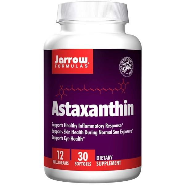 Image of Astaxanthin 12 mg (30 softgels) - Jarrow Formulas 0790011200413