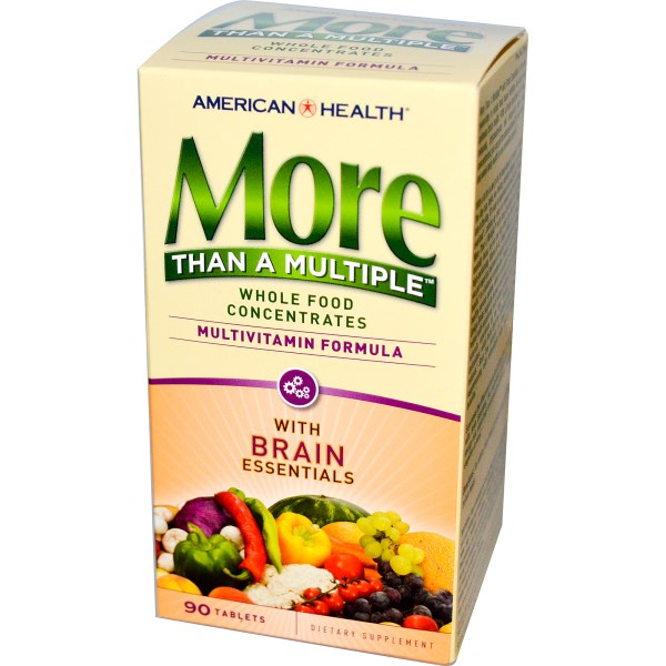 Image of More Than A Multiple with Brain Essentials (90 tablets) - American Health 0076630512442