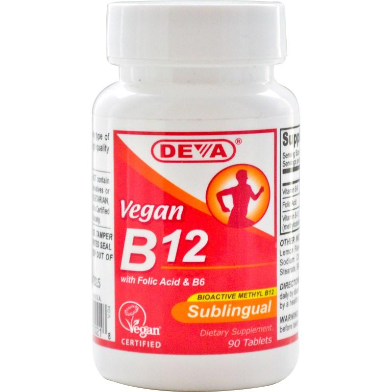 Image of Vegan B12 Sublingual (90 Tablets) - Deva 0895634000218