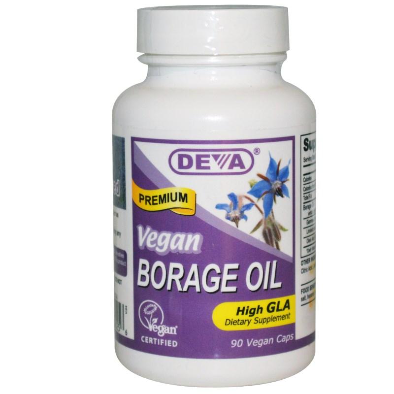 Image of Borage Oil (90 Vegan Caps) - Deva 0895634000256