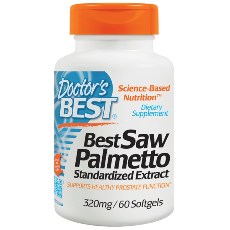 Image of Saw Palmetto Standardized Extract with Euromed 320 mg (60 Softgels) - Doctor's Best 0753950000827