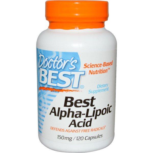 Image of Best Alpha Lipoic Acid, 150 mg (120 Capsules) - Doctor's Best 0753950001046